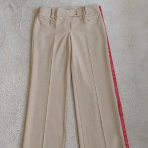 Ann Taylor wide leg beige Dress Pants size 6